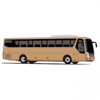 Grafica vettoriale illustrazione autobus isolato su sfondo bianco facile personalizzazione