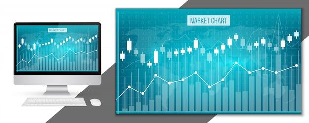 Grafici finanziari dei dati aziendali