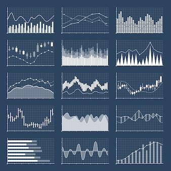 Grafici finanziari del bastone di candela