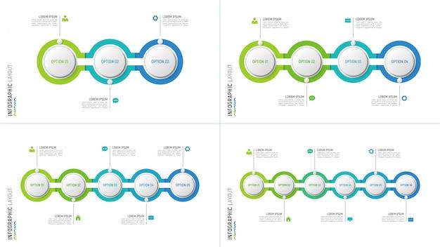 Grafici infografici timeline per la visualizzazione dei dati