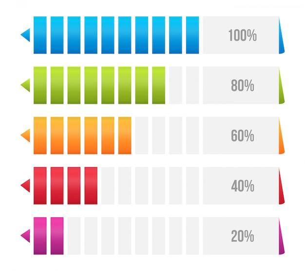 Grafico a barre delle colonne, tabella comparativa infografica.