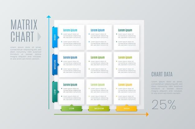 Grafico a matrice infografica