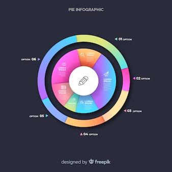 Grafico a torta infografica