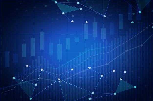 Grafico azionario della criptovaluta leggero futuristico