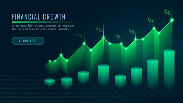 Grafico commerciale del mercato azionario o dei forex nel concetto grafico