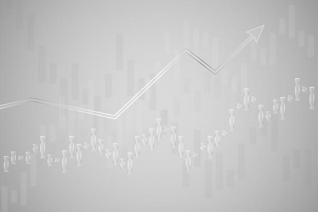 Grafico del bastone della candela di affari di commercio di investimento del mercato azionario