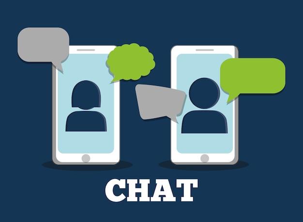 Grafico del design di chat, illustrazione vettoriale