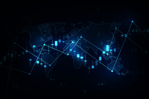 Grafico del grafico del bastone della candela di affari del commercio di investimento del mercato azionario, punto rialzista, punto ribassista per i concetti, rapporti e investimento finanziari e commerciali.