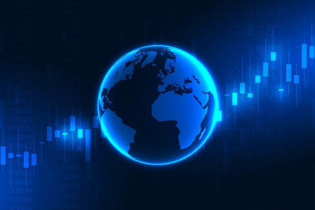 Grafico del mercato azionario o grafico di forex trading per concetti commerciali e finanziari