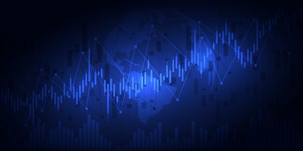 Grafico del mercato azionario o grafico di trading forex per concetti aziendali e finanziari