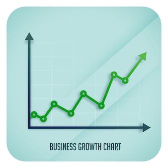 Grafico della freccia di crescita di affari che mostra tendenza al rialzo