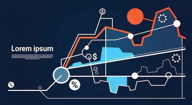 Grafico di affari finanziari di analisi finanza grafico