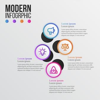 Grafico di informazioni di bellezza moderna con icona di affari