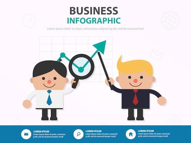 Grafico di marketing analisi uomo d'affari infographic