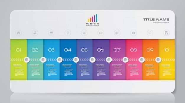 Grafico di presentazione infografica