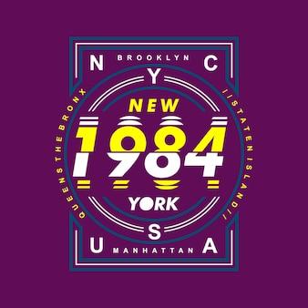 Grafico di progettazione di new york city