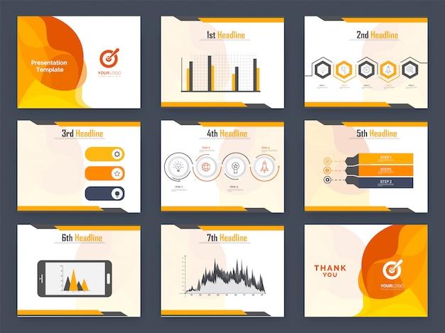 Grafico di statistiche di dati con elementi infographic