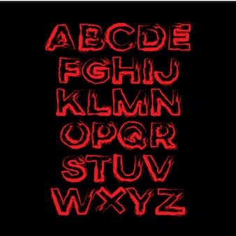 Grafico di vettore di alfabeto disegnato a mano astratto