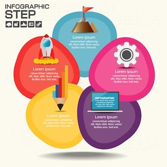 Grafico infografica con campo di testo esplicativo