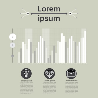 Grafico set finance diagram infographic