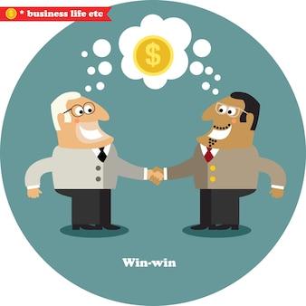 Grande affare della stretta di mano di affari