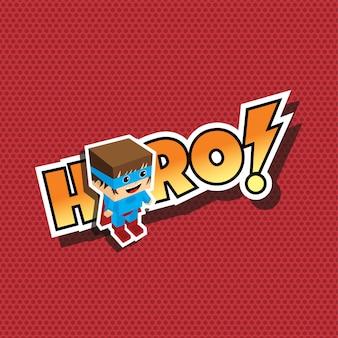 Grande cartone animato di supereroi