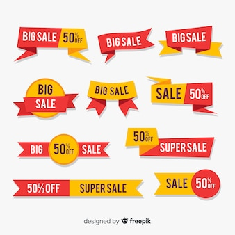 Grande collezione di elementi di vendita