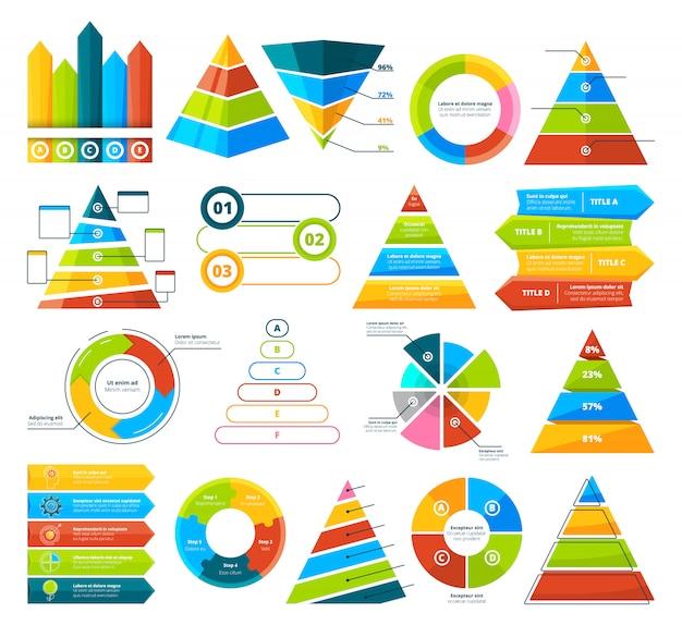 Grande collezione di elementi infographic