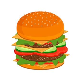 Grande cucina fast food hamburger veloce.