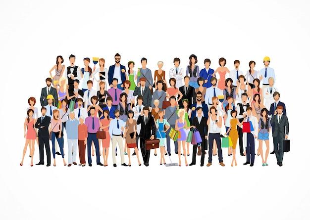 Grande gruppo di persone