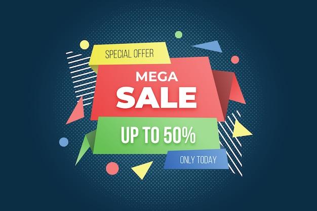 Grande modello di banner di offerta speciale di vendita