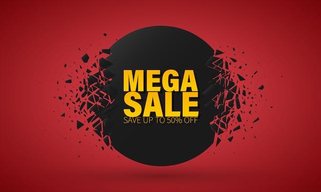 Grande offerta speciale di vendita. banner con effetto esplosione.