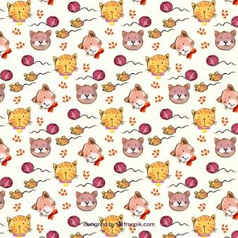 Grande pattern con cani e gatti