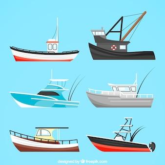 Grande raccolta di barche
