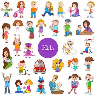 Grande set di personaggi dei cartoni animati dei bambini