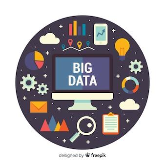Grande sfondo di computer dati