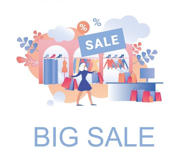 Grande vendita nella boutique di abbigliamento e accessori donna