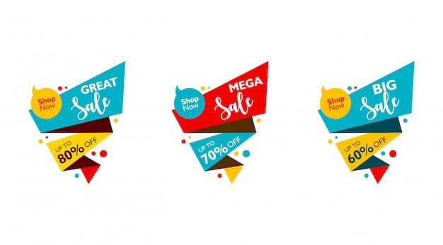 Grande vendita, vendita mega e grande vendita. offerta speciale per la promozione. modello di progettazione