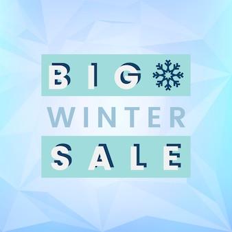 Grande vettore di distintivo di vendita invernale