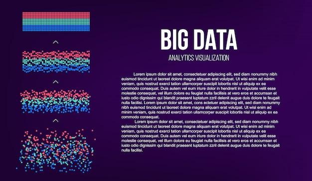 Grandi dati analisi delle informazioni.