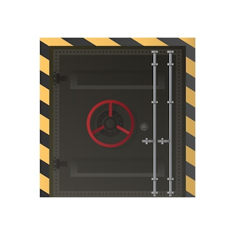 Grandi porte metalliche dal bunker. porta blindata per sponde o pensiline. isolato.