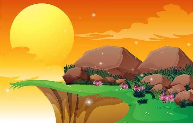 Grandi rocce vicino alla scogliera