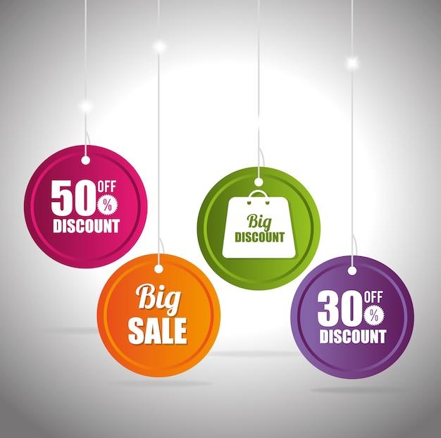 Grandi sconti di vendita e offerte di shopping