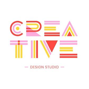 Graphic design lettering disegno geometrico