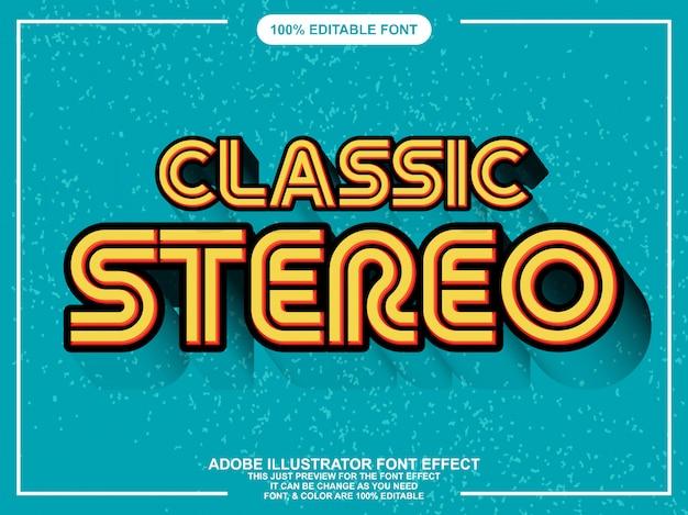 Grassetto arrotondato effetto font stile testo retrò