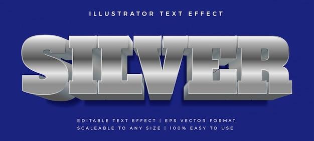 Grassetto blu argento effetto testo stile carattere