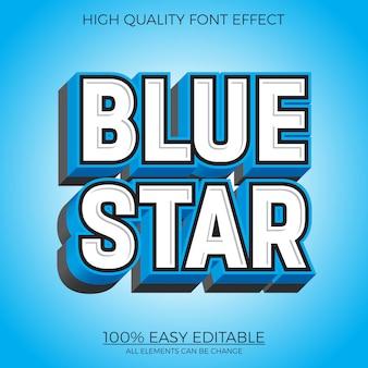 Grassetto blu effetto testo modificabile in stile 3d