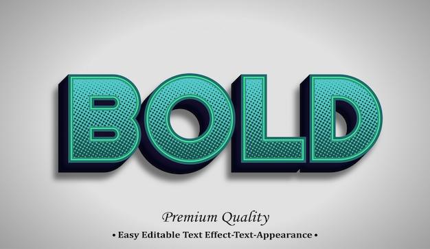 Grassetto effetto stile carattere 3d