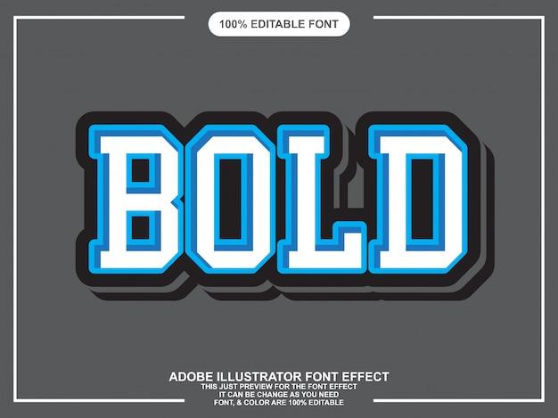 Grassetto moderno effetto carattere stile testo