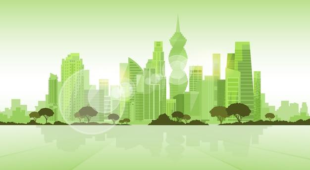 Grattacielo di panama city visualizza sfondo del paesaggio urbano